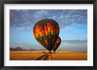 Framed Launching hot air balloons, Namib Desert, near Sesriem, Namibia