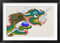 Framed Painting of Dragon, Thimphu, Bhutan