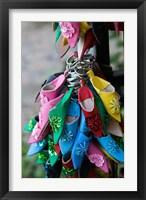 Framed MOROCCO, Rabat, Market, Babouches Slipper