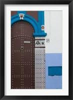 Framed MOROCCO, Rabat: Kasbah des Oudaias, Doorway Detail