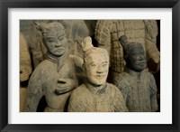 Framed Ranks and uniroms of terra cotta warrior figures