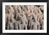Framed Army of Qin Terra Cotta Warriors, Xian, China