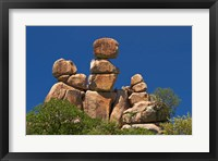 Framed Mother and Child rock formation, Matobo NP, Zimbabwe, Africa