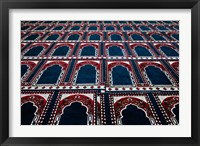 Framed Pattern of prayer rugs, Islamic mosque, Cairo, Egypt