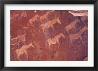 Framed Pictograph, Engravings from Stone Age Culture, Twyfelfonstein Region, Namibia