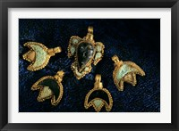 Framed Necklace Adornments, Gold Artifacts From Tillya Tepe Find, Six Tombs of Bactrian Nomads