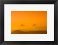 Framed Pyramids at Giza, Khafre, Menkaure, Giza Plateau, Egypt
