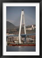 Framed River port, Badong, Suspension Bridge over Yangzi