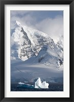 Framed Rugged Mountains Bordering Gerlache Strait, Antarctica