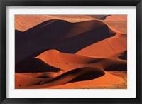Framed Sand dunes at Sossusvlei, Namib-Naukluft National Park, Namibia