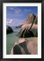 Framed Rock Formations on Pointe Source d'Argent, Seychelles