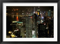 Framed Skyscrapers of Victoria Harbor, Hong Kong, China