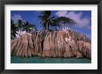 Framed Rocky Coast of St Pierre Islet, Seychelles