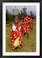 Framed Hutu Tribe Women Dancers, Rwanda