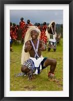Framed Hutu tribe Male Dancer, Rwanda