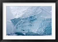 Framed South Georgia Island, Wirik Bay, Glacier ice