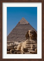 Framed Sphinx and Pyramid, Giza, Egypt