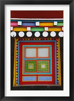 Framed Tibetan-Styled Decoration in Tagong Monastery, Tagong, Sichuan, China
