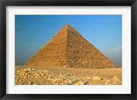 Framed Pyramids of Giza, the Nile, Cairo, Egypt