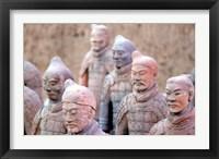 Framed Terra Cotta Warrior Heads, Xian, Shaanxi, China