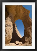 Framed Tin Ghalega Rock Formation, Red Rhino Arch, Fezzan, Libya
