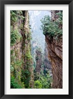Framed Stone Spires, Zhangjiajie National Forest Park, Hunnan, China