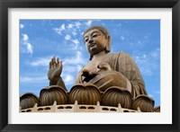 Framed Tian Tan Buddha Statue, Ngong Ping, Lantau Island, Hong Kong, China