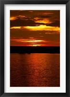 Framed Sunset over Chobe River from Sedudu Bar,Kasane, Botswana, Africa