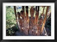 Framed Statue Honoring Fallen Heroes, Konso Waka, Omo River Region, Ethiopia