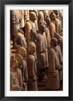 Framed Terra Cotta Warriors at Emperor Qin Shihuangdi's Tomb, China