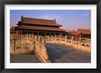 Framed Traditional Architecture in Forbidden City, Beijing, China