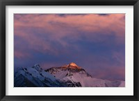 Framed Sunset on Mt. Everest, Tibet, China