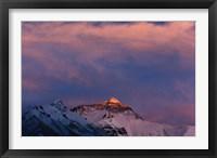 Framed Sunset on Mt. Everest, Tibet, China