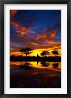 Framed Sunrise, Okaukuejo Rest Camp, Etosha National Park, Namibia