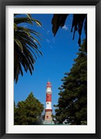 Framed Swakopmund lighthouse (1903), Swakopmund, Namibia