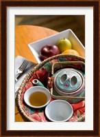 Framed Traditional Chinese teapot and cup, Hong Kong, China