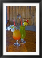 Framed Tropical cocktails, Fregate Resort island, Seychelles