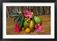 Framed Tropical Fruit on Praslin Island, Seychelles