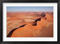 Framed View of Namib Desert sand dunes, Namib-Naukluft Park, Sossusvlei, Namibia, Africa
