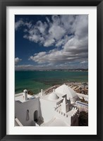 Framed Tunisia, Cap Bon, Gulf of Hammamet from the Kasbah