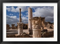 Framed Tunisia, Carthage, Antonine Bath Ancient Architecture