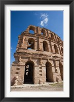 Framed Tunisia, El Jem, Colosseum, Ancient Architecture
