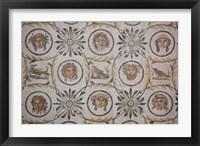 Framed Tunisia, El Jem, El Jem Museum, Roman-era mosaic