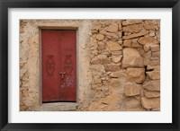 Framed Tunisia, Ksour Area, Ezzahra, village doorway