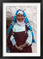 Framed Tunisia, Ksour Area, Matmata, older Berber woman