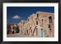 Framed Tunisia, Ksour, Medenine, fortified ksar building