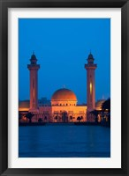 Framed Tunisia, Monastir, Mausoleum, evening