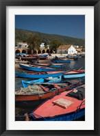 Framed Tunisia, Northern Tunisia, Ghar el-Melh, fishing boat
