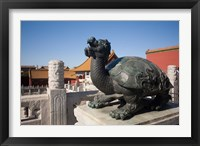 Framed Turtle statue, Chinese symbol, Forbidden City, Beijing