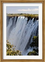 Framed Victoria Waterfalls, Zambesi River, Zambia.
